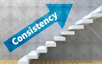 consistency picture - arrow pointing up stairs